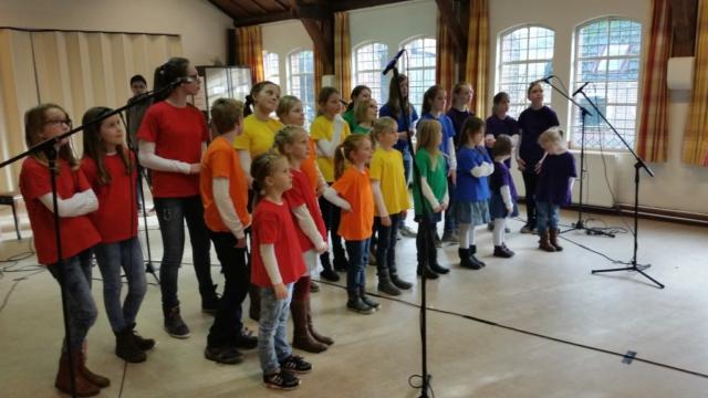 Opnames Kinder kor Alegria Deventer op locatie recordings kinderen liedje opnemen