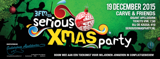ontwerp Facebook Cover 3FM Serious Request X-Mas Party, Guitart Apeldoorn