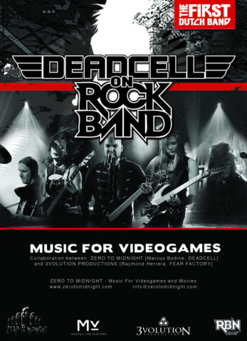 Rockbound game, music for video games, flyer 3volution productions, Guitart Apeldoorn